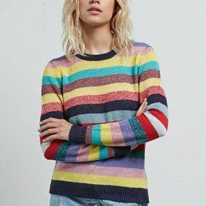 Volcom X Georgia May Jagger Core Rainbow Sweater